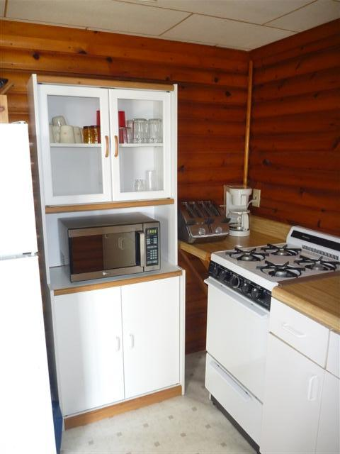 cabin 144 down inside kitchen