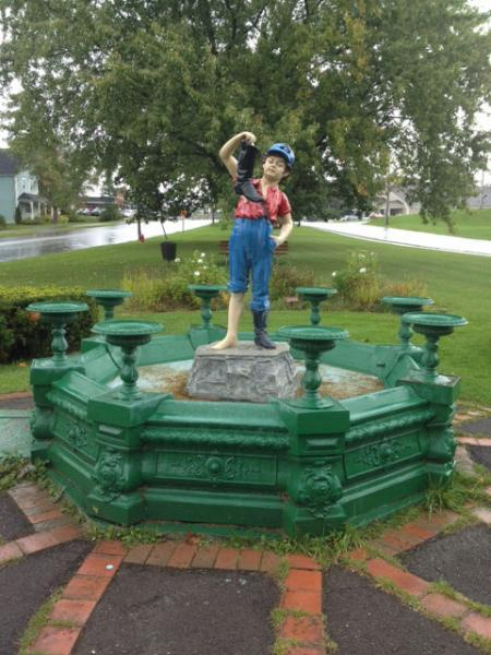 Boy and the Boot statue - Houlton, Maine