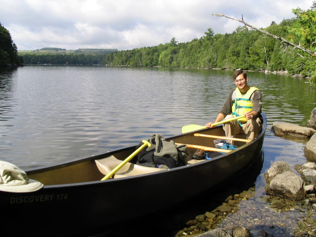 guy in canoe