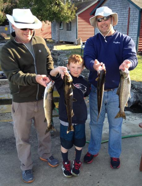 Fishing on a family vacatitons