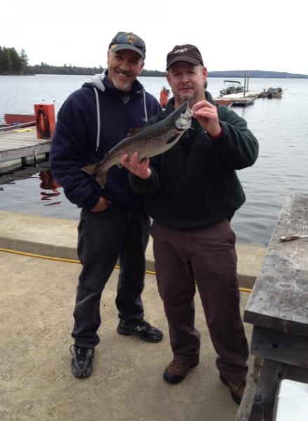 Rideout 39 s lodge fishing for Maine salmon fishing