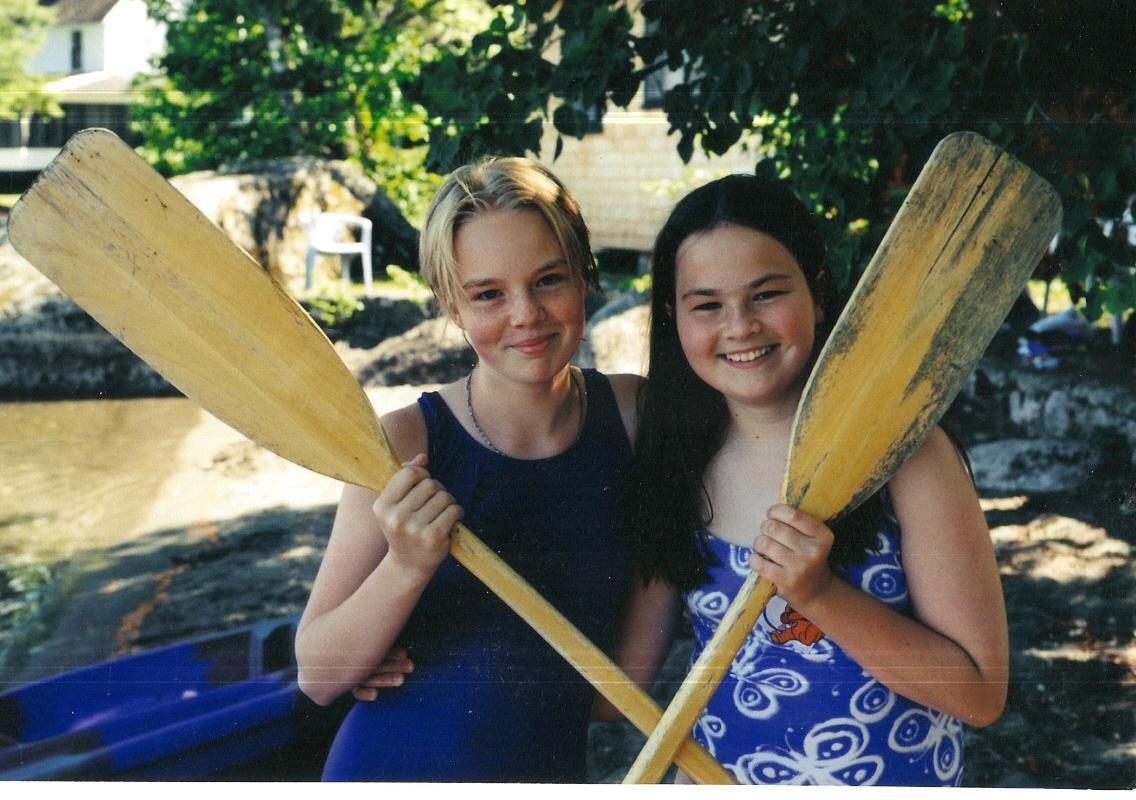jessie and Arin w paddles